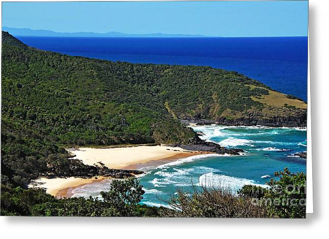Breaking Surf Greeting Cards - Picturesque Australian Beach - Coastline 2 Greeting Card by Kaye Menner