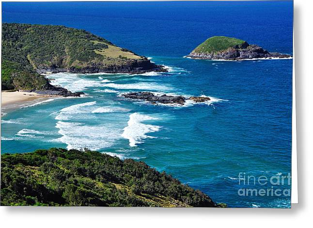 Breaking Surf Greeting Cards - Picturesque Australian Beach - Coastline Greeting Card by Kaye Menner