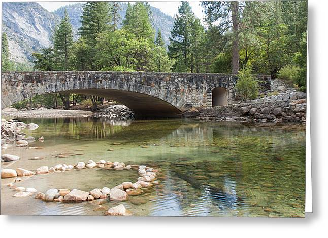 Stones Greeting Cards - Picturesque Bridge in Yosemite Valley Greeting Card by John Bailey