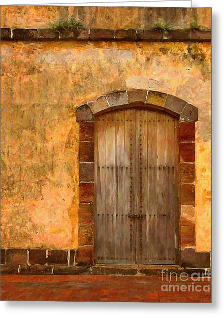 Pare Digital Art Greeting Cards - Picturesque Door Greeting Card by Eduardo Mora