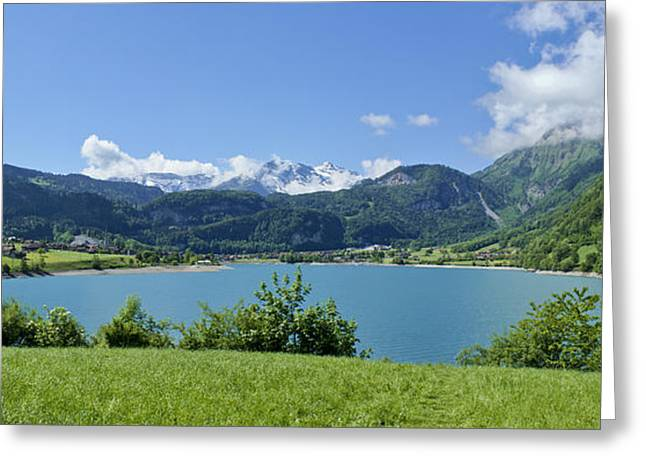 Swiss Culture Greeting Cards - Picturesque Lungern in the Swiss Alps Greeting Card by Brian Kamprath