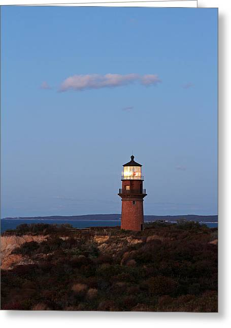 New England Lighthouse Greeting Cards - Picturesque New England Lighthouse Photography of Gay Head Light Greeting Card by Juergen Roth
