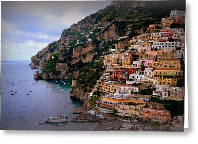 Faa Featured Greeting Cards - Picturesque Positano Greeting Card by Toni Abdnour