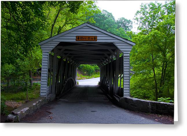 Knox Covered Bridge - Valley Forge Greeting Cards - Picturesque Valley Forge Greeting Card by Bill Cannon