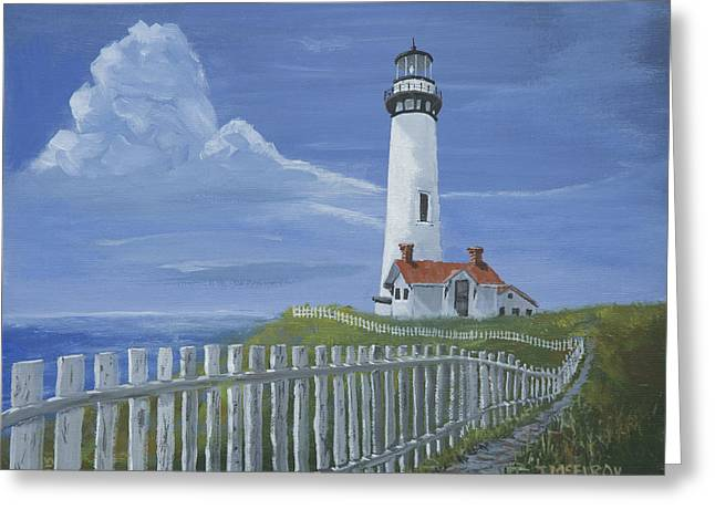 Pigeon Point Lighthouse Greeting Card by Jerry McElroy