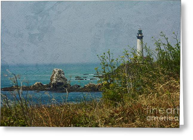 Pescadero Greeting Cards - Pidgeon Point Lighthouse Greeting Card by Kay Pickens
