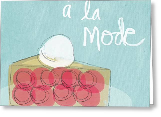 Bakery Greeting Cards - Pie a la mode Greeting Card by Linda Woods