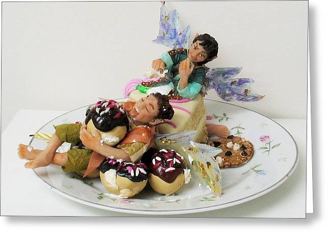 Food And Beverage Sculptures Greeting Cards - Piece O Cake Greeting Card by Tamara Stickler