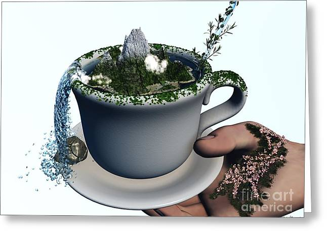 Piece Of Nature Cup Greeting Card by Eric Nagel
