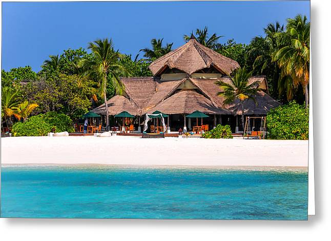 Color Transparency Greeting Cards - Piece of Paradise. Maldives Greeting Card by Jenny Rainbow