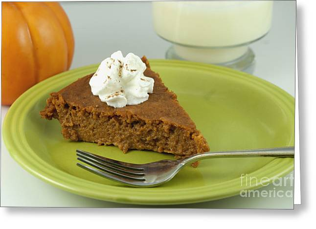 Baked Greeting Cards - Piece of Pumpkin Pie Greeting Card by Juli Scalzi
