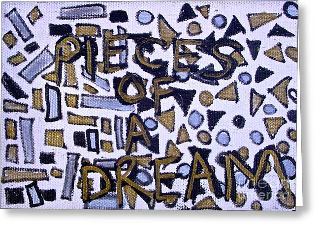 Civil Rights Greeting Cards - PIECES OF A DREAM drawing Greeting Card by Tony B Conscious