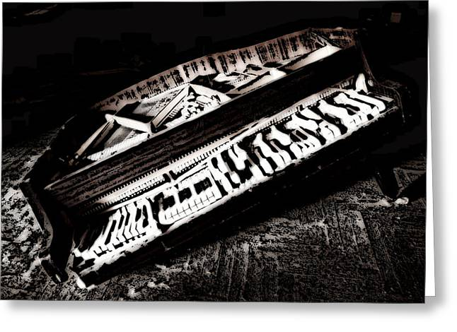 Pianist Mixed Media Greeting Cards - Pieces of a Song Greeting Card by Leitte Family