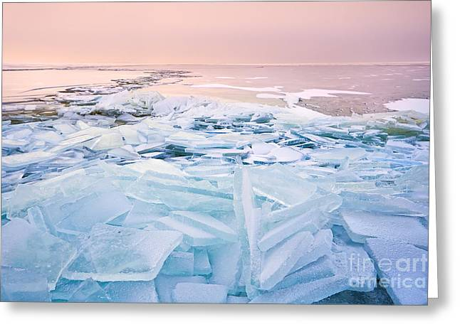 North Sea Greeting Cards - Pieces of cold Greeting Card by Olha Rohulya