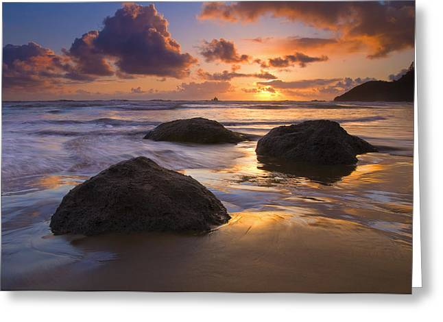 Oregon Coast Greeting Cards - Pieces of Eight Greeting Card by Mike  Dawson