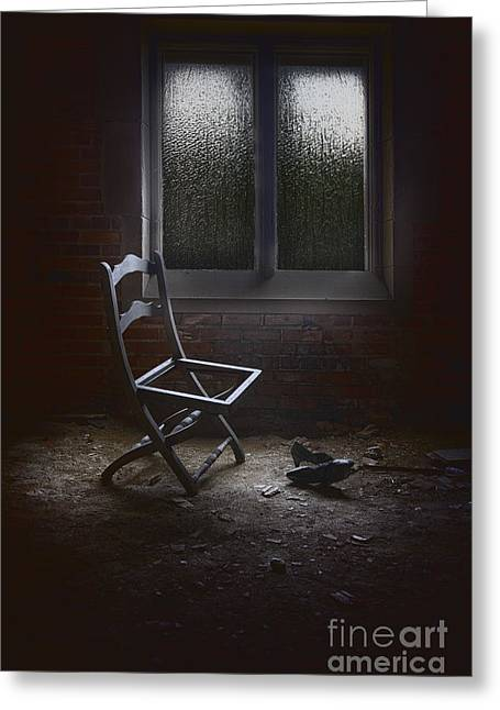 Empty Chairs Greeting Cards - Pieces of You Greeting Card by Margie Hurwich