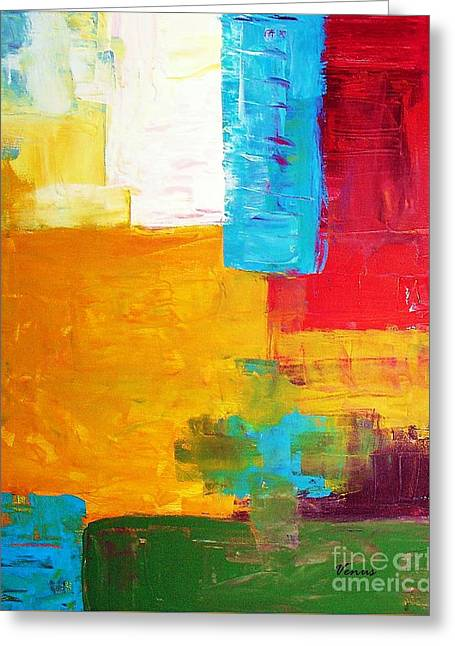 Pallet Knife Mixed Media Greeting Cards - Pieces Greeting Card by Venus