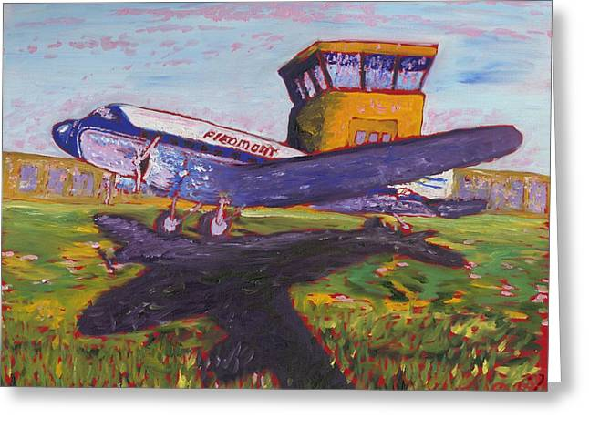 Douglass Greeting Cards - Piedmont Airlines Greeting Card by Preston Sandlin