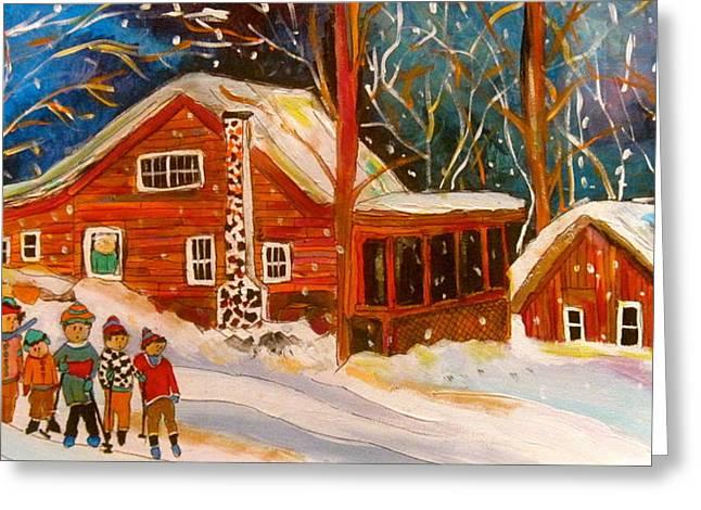 Litvack Greeting Cards - Piedmont Family Winter Greeting Card by Michael Litvack