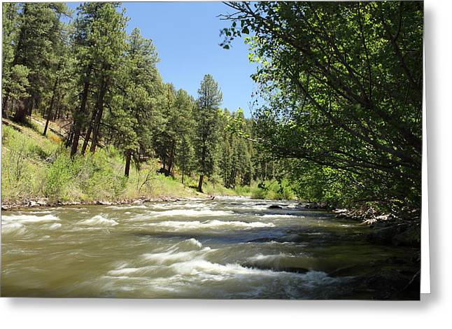 West Fork Greeting Cards - Piedra River Greeting Card by Eric Glaser