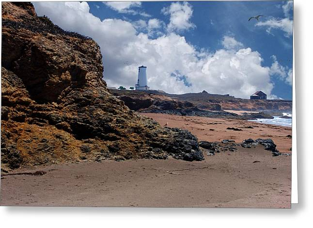 Piedras Blancas Lighthouse Greeting Cards - Piedras Blancas Lighthouse Greeting Card by Glenn McCarthy Art and Photography
