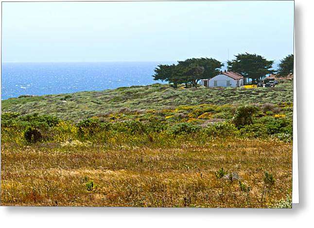Piedras Blancas Lighthouse Near San Simeon and Cambria Along HWY 1 in California Greeting Card by Artist and Photographer Laura Wrede