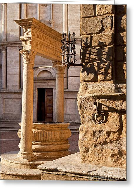 Entryway Greeting Cards - Pienza Tuscany Greeting Card by Brian Jannsen