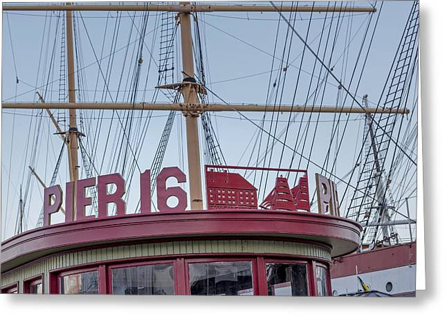 Empire State Greeting Cards - Pier 16 South Street Seaport NYC Greeting Card by Susan Candelario