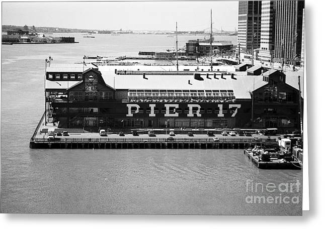 Pier 17 Greeting Cards - Pier 17 1990s Greeting Card by John Rizzuto
