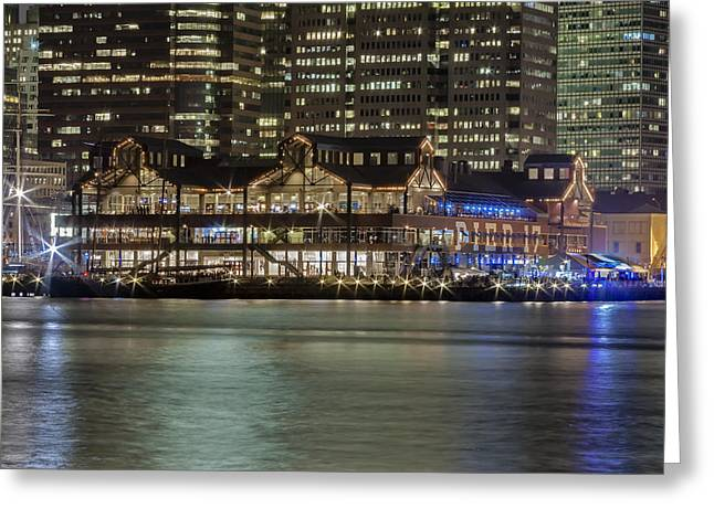 Pier 17 Greeting Cards - Pier 17 South Street Seaport NYC Greeting Card by Susan Candelario