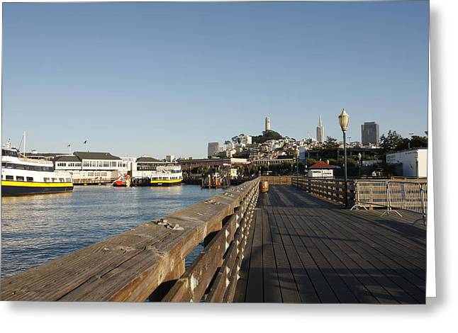 Pier 39 Greeting Card by Kimberly Oegerle