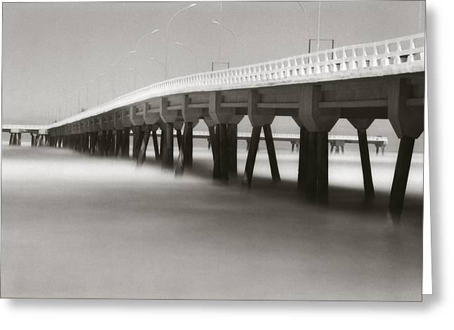 Seacape Greeting Cards - Pier Greeting Card by Amarildo Correa