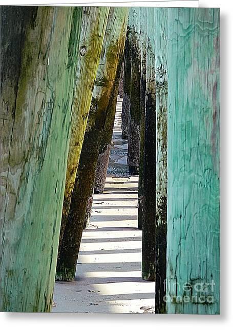 Maine Shore Greeting Cards - Pier Anchors  Greeting Card by Marcia Lee Jones