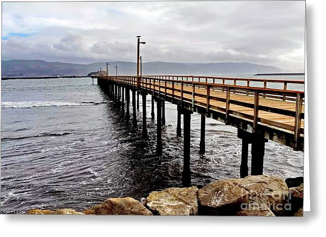 My Ocean Greeting Cards - Pier at Crescent City Greeting Card by   FLJohnson Photography