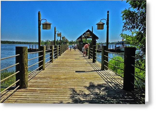 Epcot Center Greeting Cards - Pier at Fort Wilderness Greeting Card by Thomas Woolworth