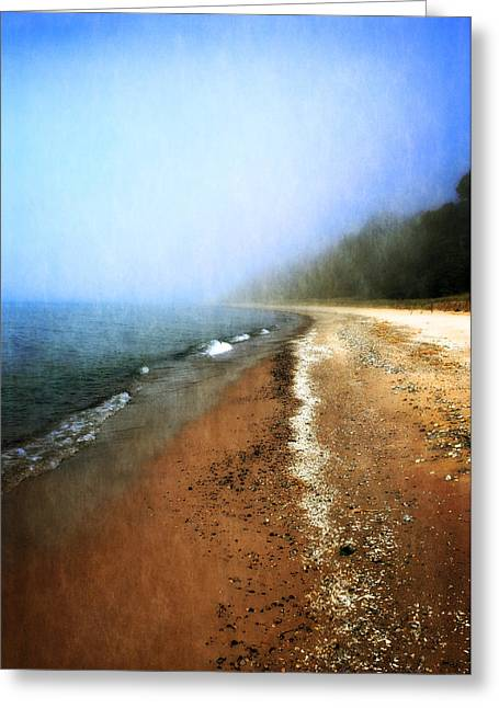 Michelle Photographs Greeting Cards - Pier Cove Beach Greeting Card by Michelle Calkins