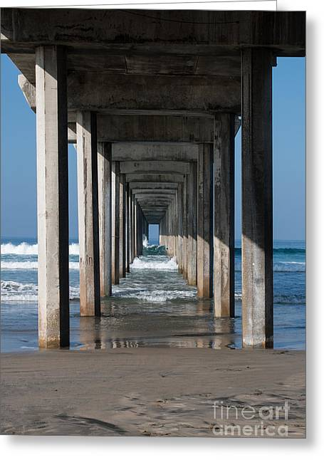 California Oceans Greeting Cards - Pier Geometry Greeting Card by Ana V  Ramirez