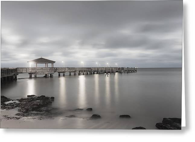 """sunset Photography"" Greeting Cards - Pier II Greeting Card by Scott Meyer"
