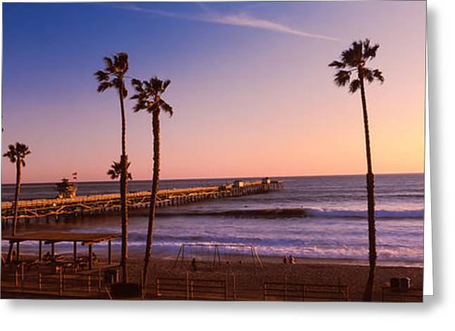Clemente Photographs Greeting Cards - Pier In The Pacific Ocean, San Clemente Greeting Card by Panoramic Images