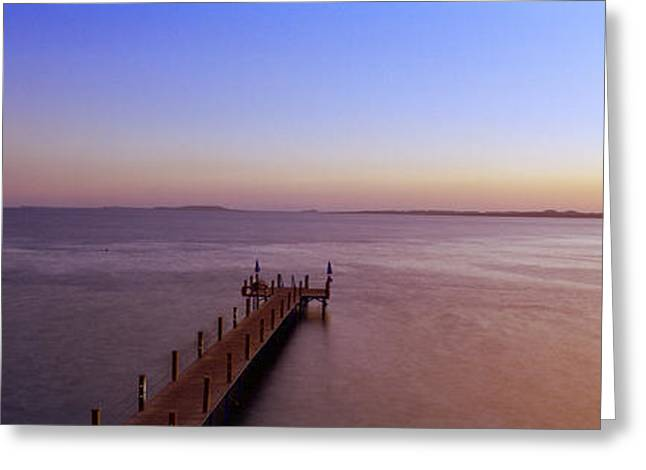 Ras Greeting Cards - Pier In The Sea, Ras Um Sid, Sharm Greeting Card by Panoramic Images