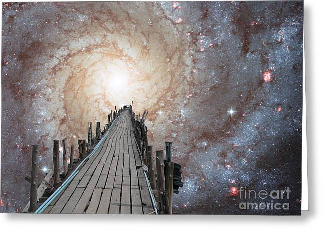 Vertigo Digital Art Greeting Cards - Pier into Space 2 Greeting Card by Gregory Smith