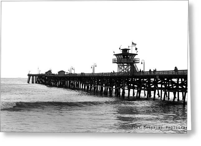 Pier Greeting Card by Joey  Maganini