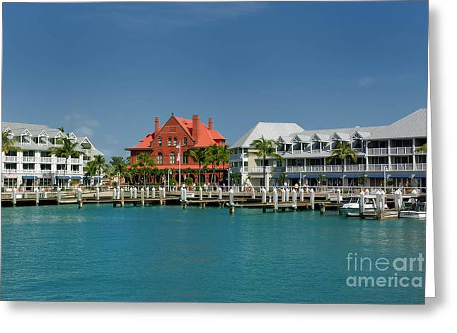 Craft Greeting Cards - Pier Key West Florida Greeting Card by Amy Cicconi