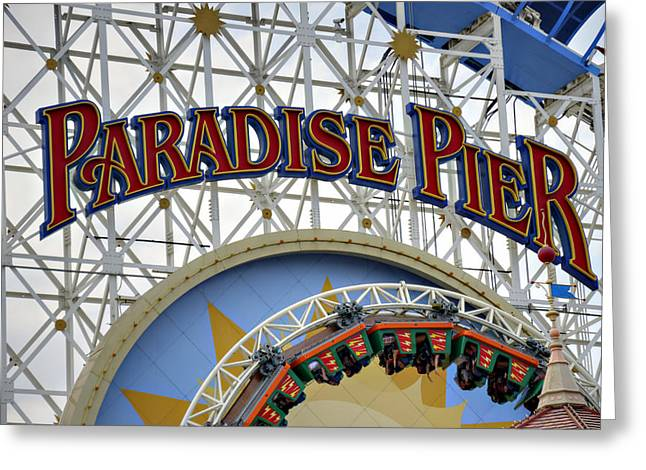 Paradise Pier Attraction Greeting Cards - Pier of Paradise Greeting Card by Ricky Barnard