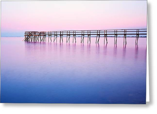 Pier On Lake Winnipeg Greeting Card by Ken Gillespie