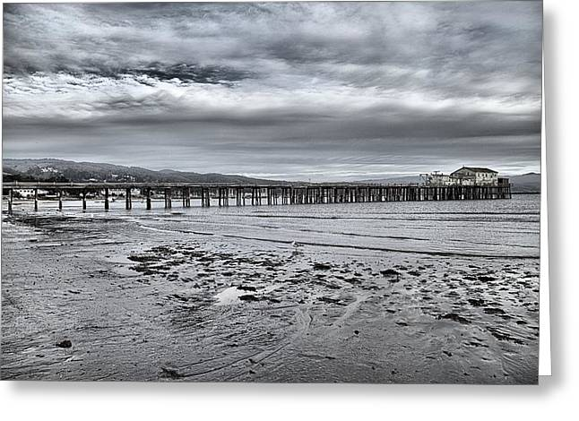 Half Moon Bay Greeting Cards - Pier On The Bay Greeting Card by Scott Hill