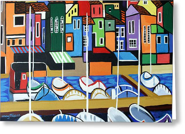 Pier One Greeting Card by Anthony Falbo