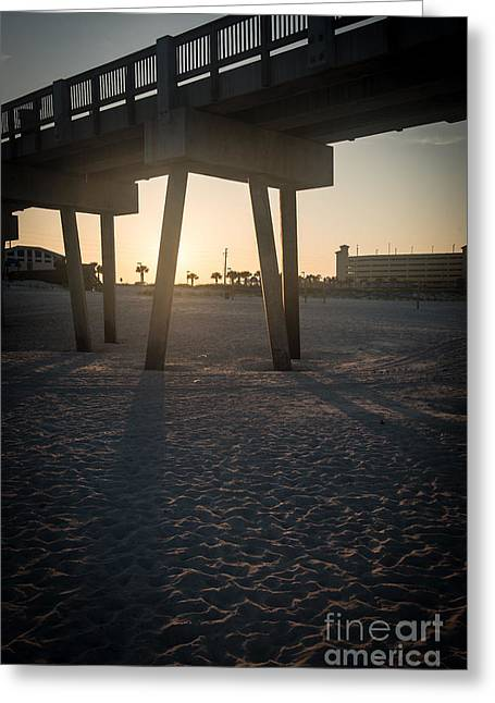Panama City Beach Greeting Cards - Pier Park Pier Greeting Card by Allen Simmons