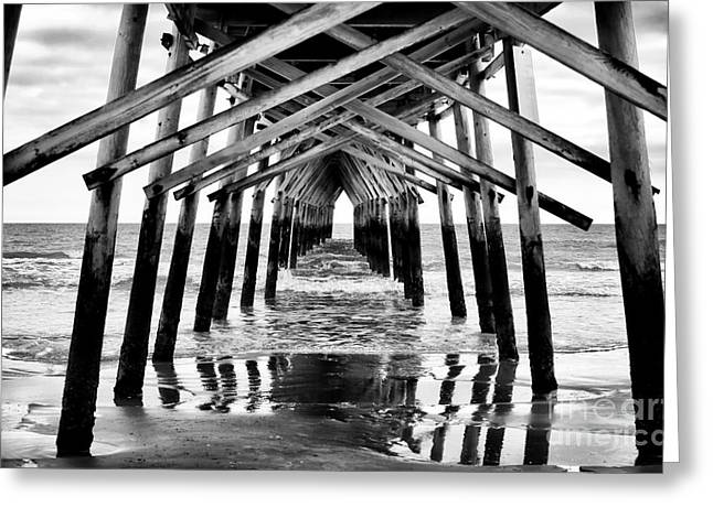 Nc Photos Greeting Cards - Pier Path Greeting Card by John Rizzuto