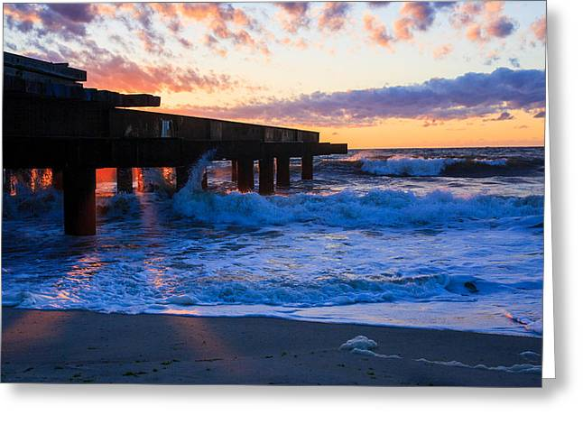 Casino Pier Greeting Cards - Pier Pressure Greeting Card by Bill Terlecki